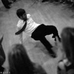 Break dancing at a wedding at Springstep in Medford, MA.