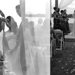 A cool scene during a wedding ceremony at Halcyon estate in Easton, MD.