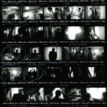 Hand printed in the darkroom contact sheet