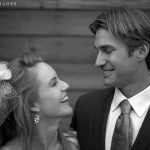 A couple smiles happily after exchanging vows at The Ventana Inn & Spa in Big Sur, CA.