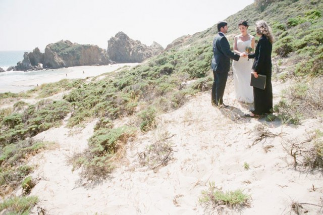 pfeiffer beach elopement ceremony