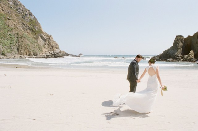 big sur beach elopement