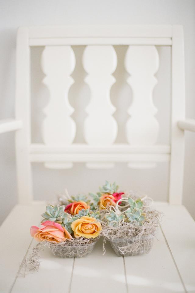 wedding succulents bouquet bride