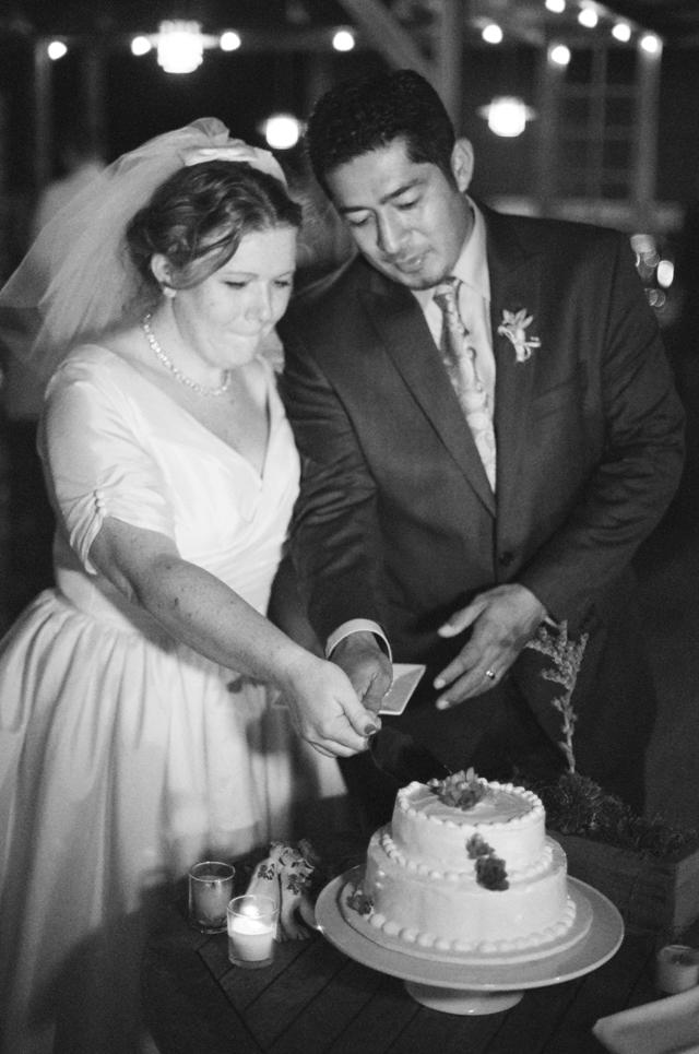 cutting the cake in cayucos ca