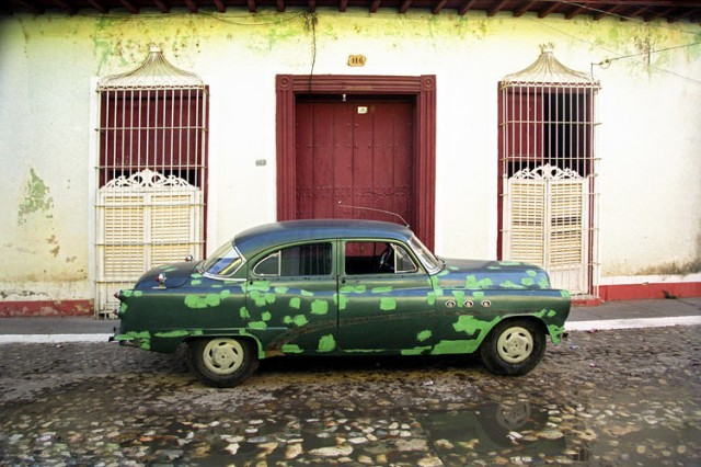 One of Cuba's famed old Buick cars, still able to run in Trinidad.