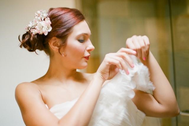 red hair bride best dress and makeup california