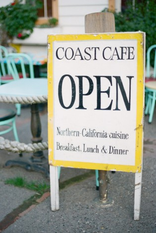 coast cafe sign bolinas california